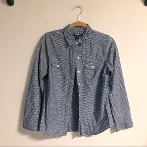 5 for $15 SALE❗️ Old Navy Chambray Shirt with Dots